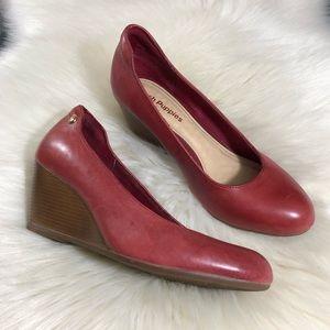 Hush Puppies Red Wedge Heels